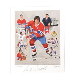 Club De Hockey LAPENSÉE 8X10 LITHOGRAPH SIGNED BY SERGE SAVARD