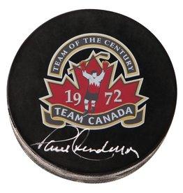 Club De Hockey RONDELLE D'ÉQUIPE CANADA SIGNÉE PAR PAUL HENDERSON AUTOGRAPHIE