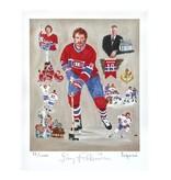 Club De Hockey LITHOGRAPHIE LAPENSEE 8x10 SIGNÉE PAR LARRY ROBINSON