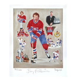 Club De Hockey LAPENSÉE 8X10 LITHOGRAPH SIGNED BY LARRY ROBINSON