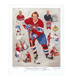 Club De Hockey LAPENSÉE 8X10 LITHOGRAPH SIGNED BY YVAN COURNOYER
