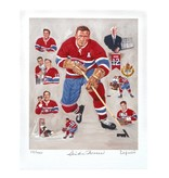 Club De Hockey LAPENSÉE 8X10 LITHOGRAPH SIGNED BY DICKIE MOORE
