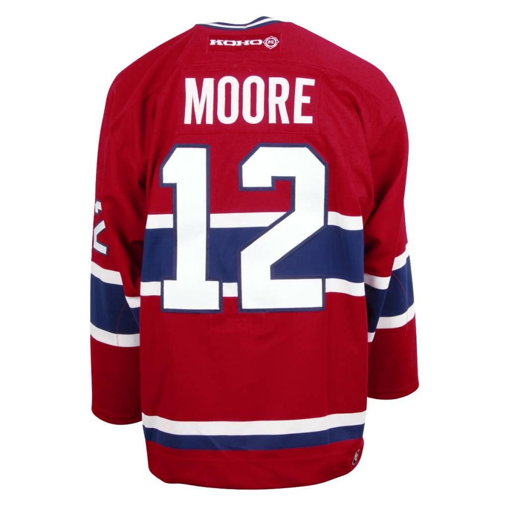 Club De Hockey JERSEY SIGNED ON LOGO BY DICKIE MOORE