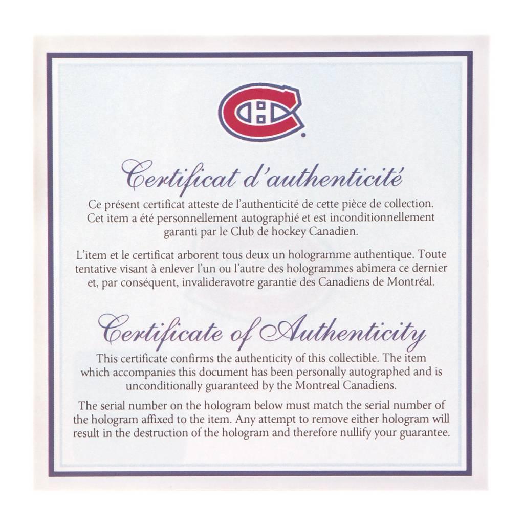 Club Du Hockey RONDELLE VINTAGE SIGNÉE PAR JEAN BELIVEAU (INSCRIPTION H.O.F.)