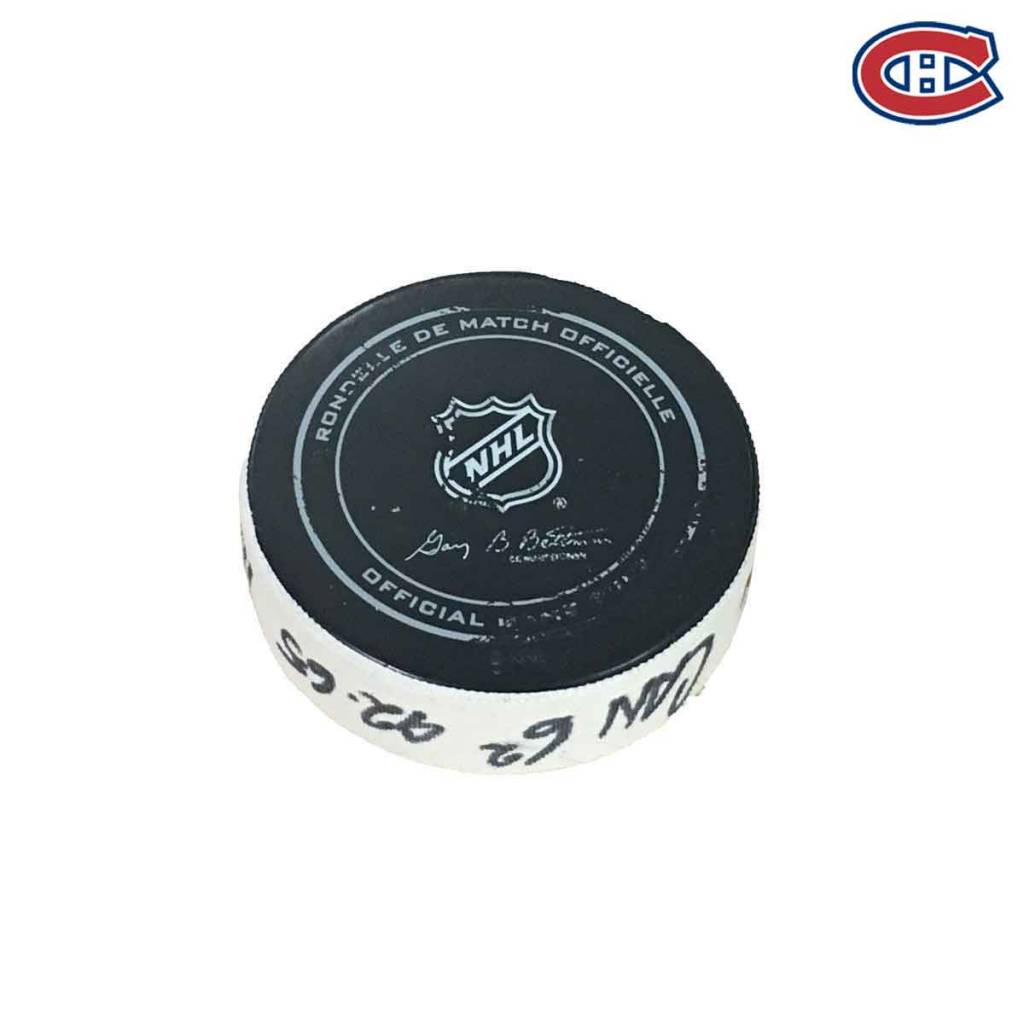 Club De Hockey SHEA WEBER GOAL PUCK (2) 24-OCT-2017