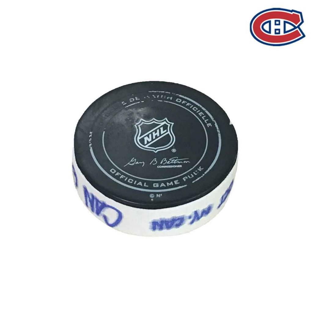Club De Hockey MAX PACIORETTY GOAL PUCK (3) 28-OCT-2017