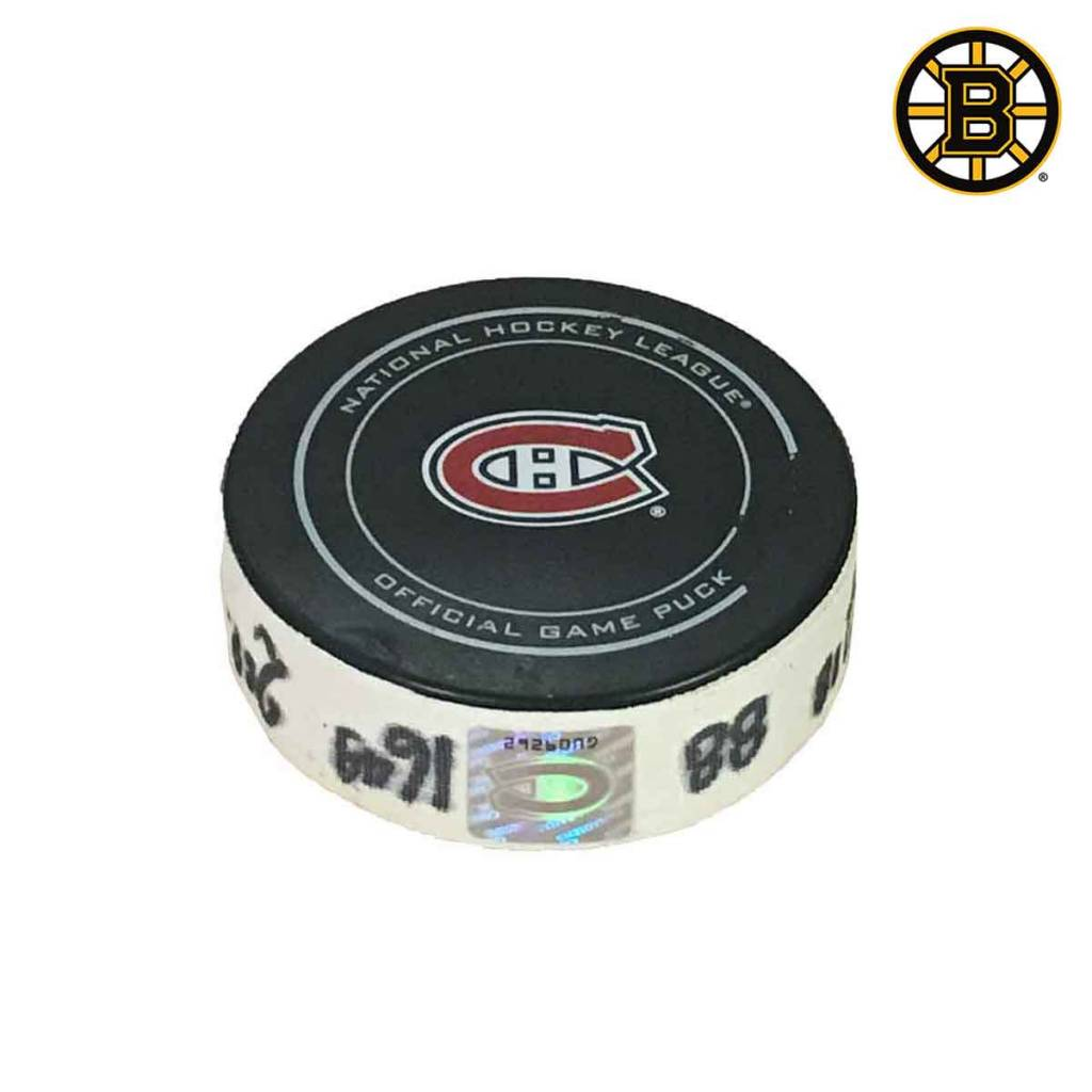 Club De Hockey PATRICE BERGERON GOAL PUCK (18) 19-JAN-2016