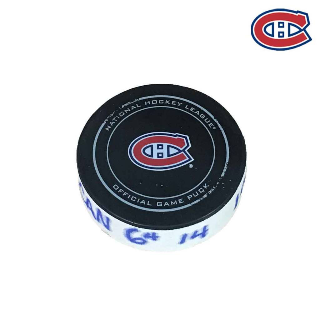Club De Hockey SHEA WEBER GOAL PUCK (4) 16-NOV-2017