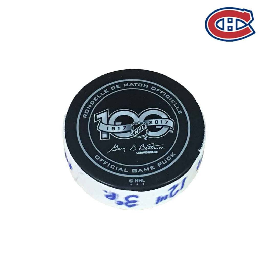 Club De Hockey PAUL BYRON GOAL PUCK (4) 14-NOV-2017