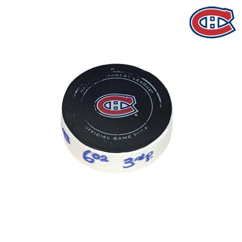 Club De Hockey JORDIE BENN GOAL PUCK (3) 2-DEC-2017