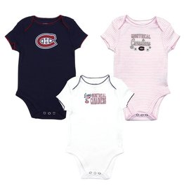 Outerstuff NEWBORN BABY 3 PACK PYJAMA