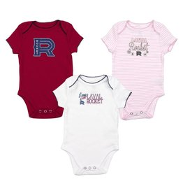 Outerstuff NEWBORN BABY 3 COLOR PACK ROCKET PYJAMA