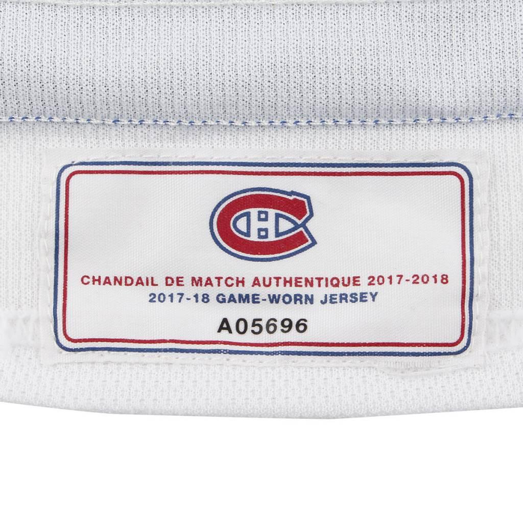 Club De Hockey CHANDAIL PORTÉ 2017-2018 #8 JORDIE BENN SÉRIE 1 À L'ÉTRANGER