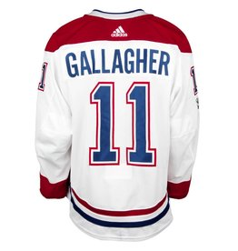 Club De Hockey 2017-2018 #11 BRENDAN GALLAGHER AWAY SET 1 GAME-USED JERSEY