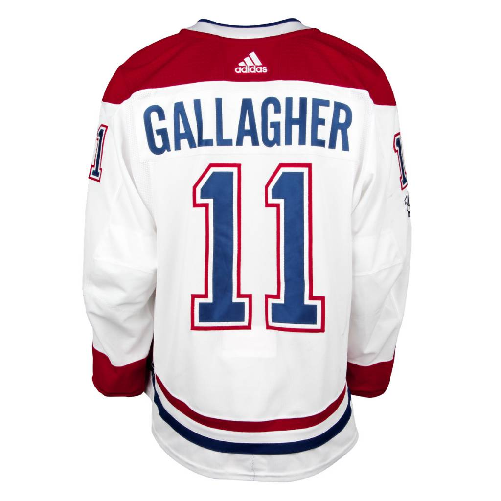 Club De Hockey CHANDAIL PORTÉ 2017-2018 #11 BRENDAN GALLAGHER SÉRIE 1 √Ä L'ÉTRANGER