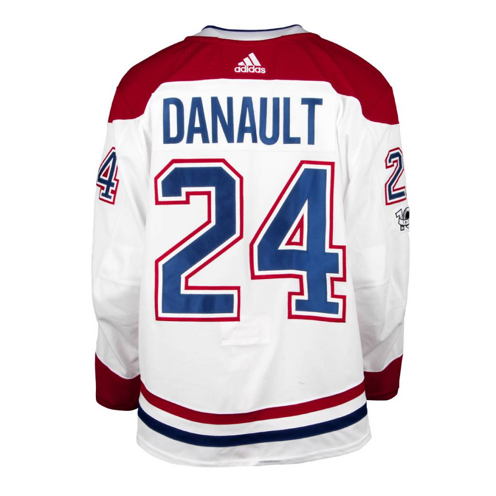 Club De Hockey 2017-2018 #24 PHILLIP DANAULT AWAY SET 1 GAME-USED JERSEY