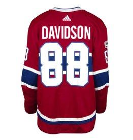 Club De Hockey CHANDAIL PORTÉ 2017-2018 #88 BRANDON DAVIDSON SÉRIE 1 À DOMICILE