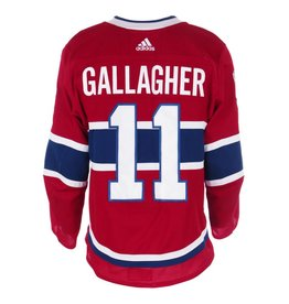 Club De Hockey 2017-2018 #11 BRENDAN GALLAGHER HOME SET 1 GAME-USED JERSEY