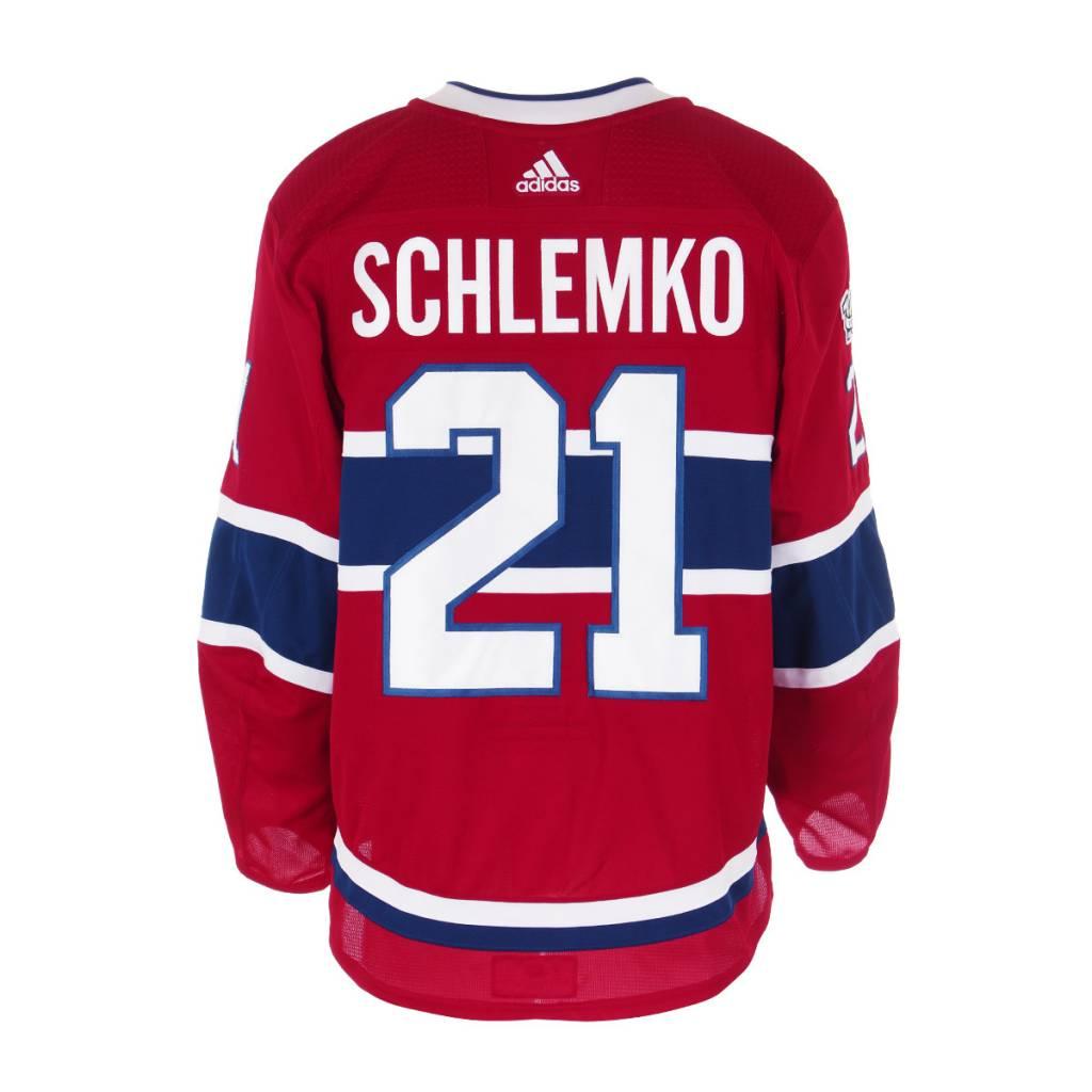 Club De Hockey CHANDAIL PORTÉ 2017-2018 #21 DAVID SCHLEMKO SÉRIE 1 À DOMICILE
