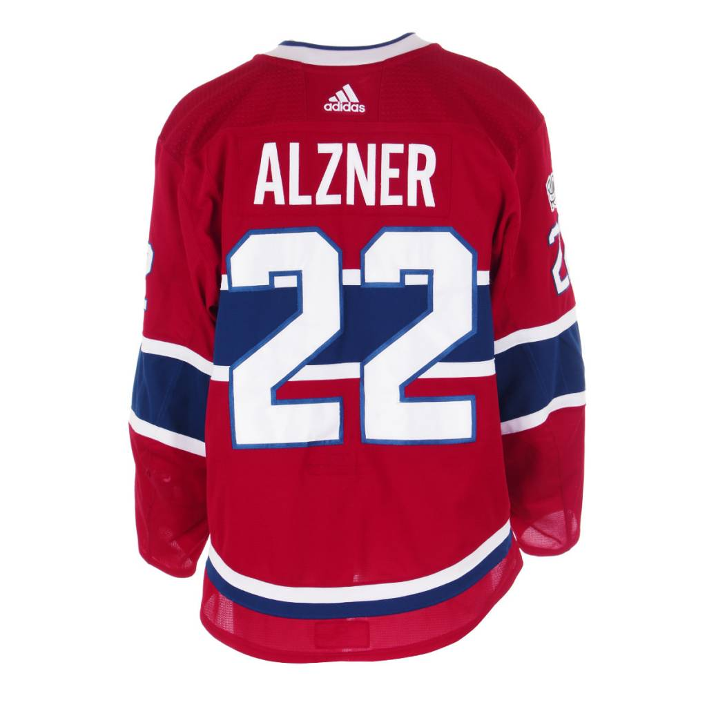 Club De Hockey 2017-2018 #22 KARL ALZNER HOME SET 1 GAME0USED JERSEY