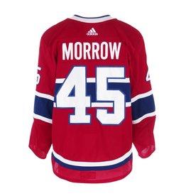 Club De Hockey CHANDAIL PORTÉ 2017-2018 #45 JOE MORROW SÉRIE 1 À DOMICILE