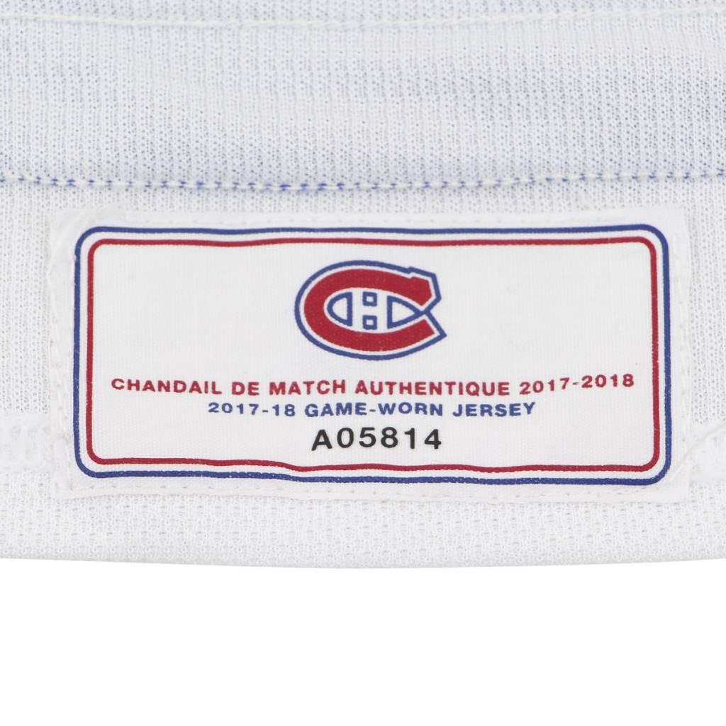Club De Hockey CHANDAIL PORTÉ 2017-2018 #8 JORDIE BENN SÉRIE 3 À L'ÉTRANGER