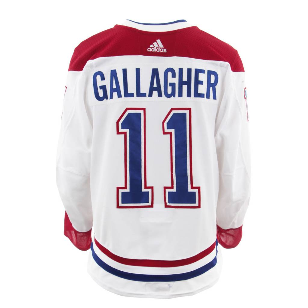 Club De Hockey 2017-2018 #11 BRENDAN GALLAGHER AWAY SET 3 GAME-USED JERSEY