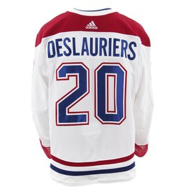 Club De Hockey 2017-2018 #20 NICOLAS DESLAURIERS AWAY SET 2 GAME-USED JERSEY