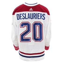 Club De Hockey CHANDAIL PORTÉ 2017-2018 #20 NICOLAS DESLAURIERS SÉRIE 3 √Ä L'ÉTRANGER