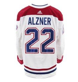 Club De Hockey CHANDAIL PORTÉ 2017-2018 #22 KARL ALZNER SÉRIE 2 À L'ÉTRANGER