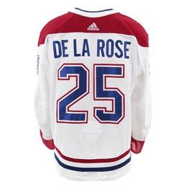 Club De Hockey CHANDAIL PORTÉ 2017-2018 #25 JACOB DE LA ROSE SÉRIE 3 À L'ÉTRANGER