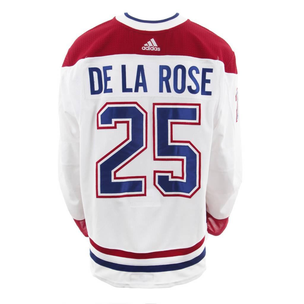 Club De Hockey CHANDAIL PORTÉ 2017-2018 #25 JACOB DE LA ROSE SÉRIE 2 À L'ÉTRANGER