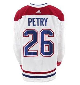 Club De Hockey CHANDAIL PORTÉ 2017-2018 #26 JEFF PETRY SÉRIE 2 À L'ÉTRANGER