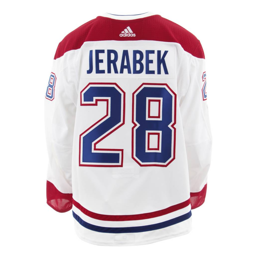 Club De Hockey 2017-2018 #28 JAKUB JERABEK AWAY SET 1 GAME-USED JERSEY (GAME-ISSUED)
