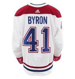Club De Hockey 2017-2018 #41 PAUL BYRON AWAY SET 2 GAME-USED JERSEY