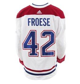 Club De Hockey CHANDAIL PORTÉ 2017-2018 #42 BYRON FROESE SÉRIE 3 À L'ÉTRANGER