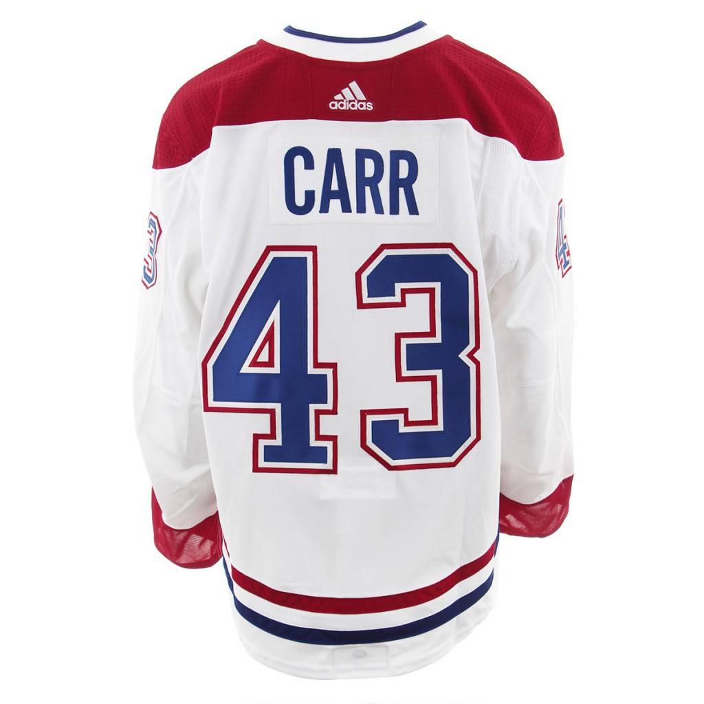 Club De Hockey CHANDAIL PORTÉ 2017-2018 #43 DANIEL CARR SÉRIE 2 À L'ÉTRANGER