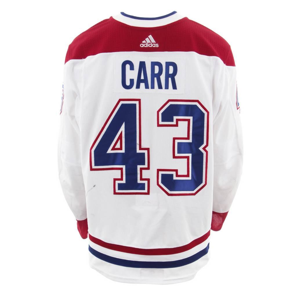 Club De Hockey CHANDAIL PORTÉ 2017-2018 #43 DANIEL CARR SÉRIE 3 À L'ÉTRANGER