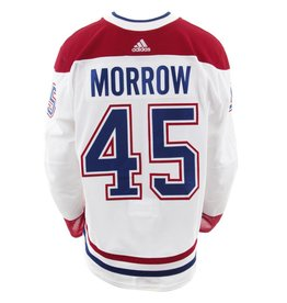 Club De Hockey CHANDAIL PORTÉ 2017-2018 #45 JOE MORROW SÉRIE 2 À L'ÉTRANGER