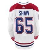 Club De Hockey CHANDAIL PORTÉ 2017-2018 #65 ANDREW SHAW SÉRIE 3 À L'ÉTRANGER