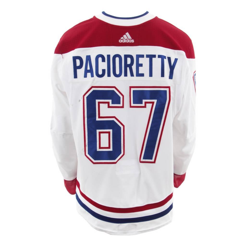 Club De Hockey 2017-2018 #67 MAX PACIORETTY AWAY SET 3 GAME-USED JERSEY