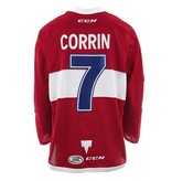 Club De Hockey 2017-2018 #7 WILLIE CORRIN RED GAME-USED JERSEY