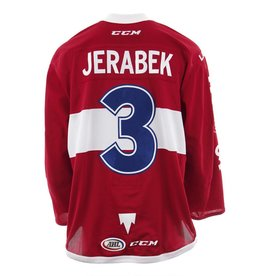 Club De Hockey 2017-2018 #3 JAKUB JERABEK RED GAME-USED JERSEY