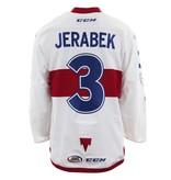 Club De Hockey 2017-2018 #3 JAKUB JERABEK WHITE GAME-USED JERSEY