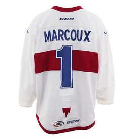 Club De Hockey CHANDAIL PORTÉ 2017-2018 #1 ETIENNE MARCOUX BLANC (CHANDAIL PRÉPARÉ)
