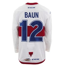 Club De Hockey CHANDAIL PORTÉ 2017-2018 #12 KYLE BAUN BLANC