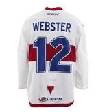 Club De Hockey CHANDAIL PORTÉ 2017-2018 #12 BAILEY WEBSTER BLANC