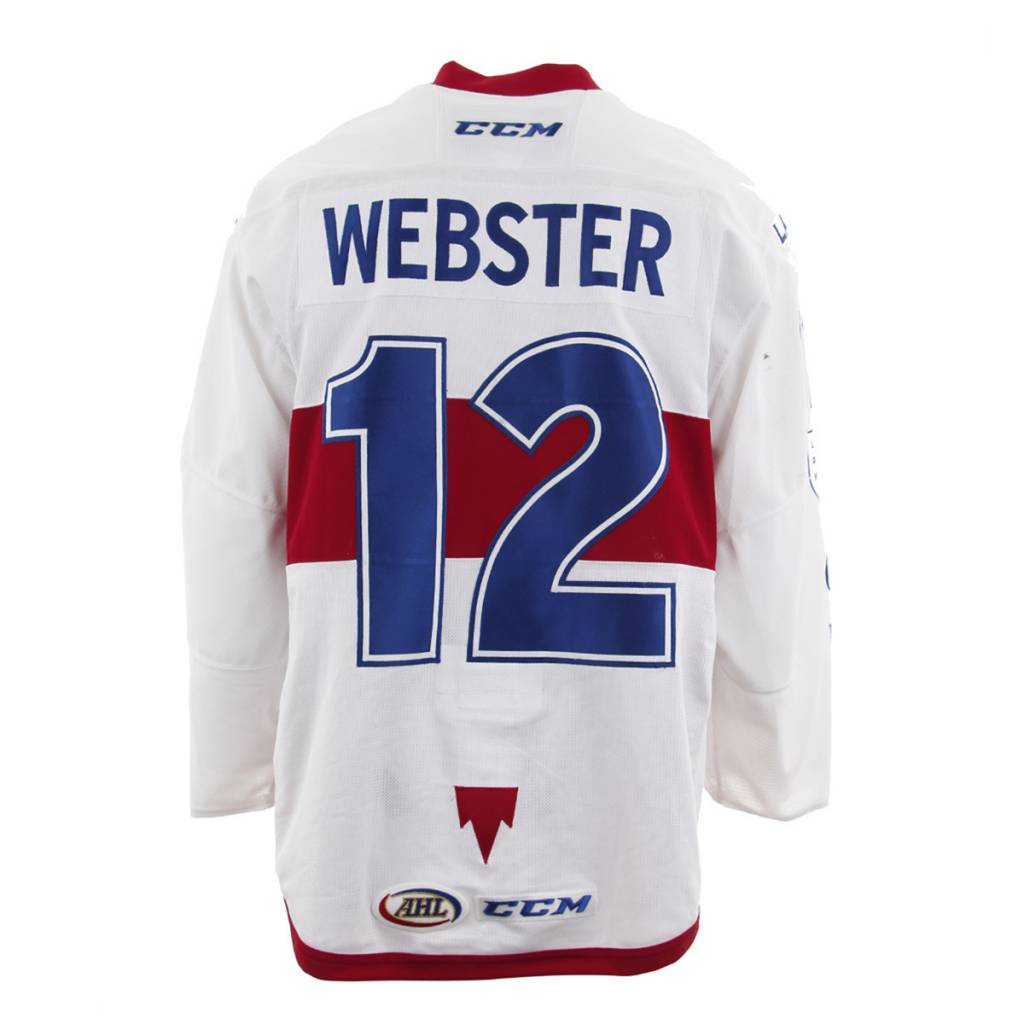 Club De Hockey 2017-2018 #12 BAILEY WEBSTER WHITE GAME-USED JERSEY
