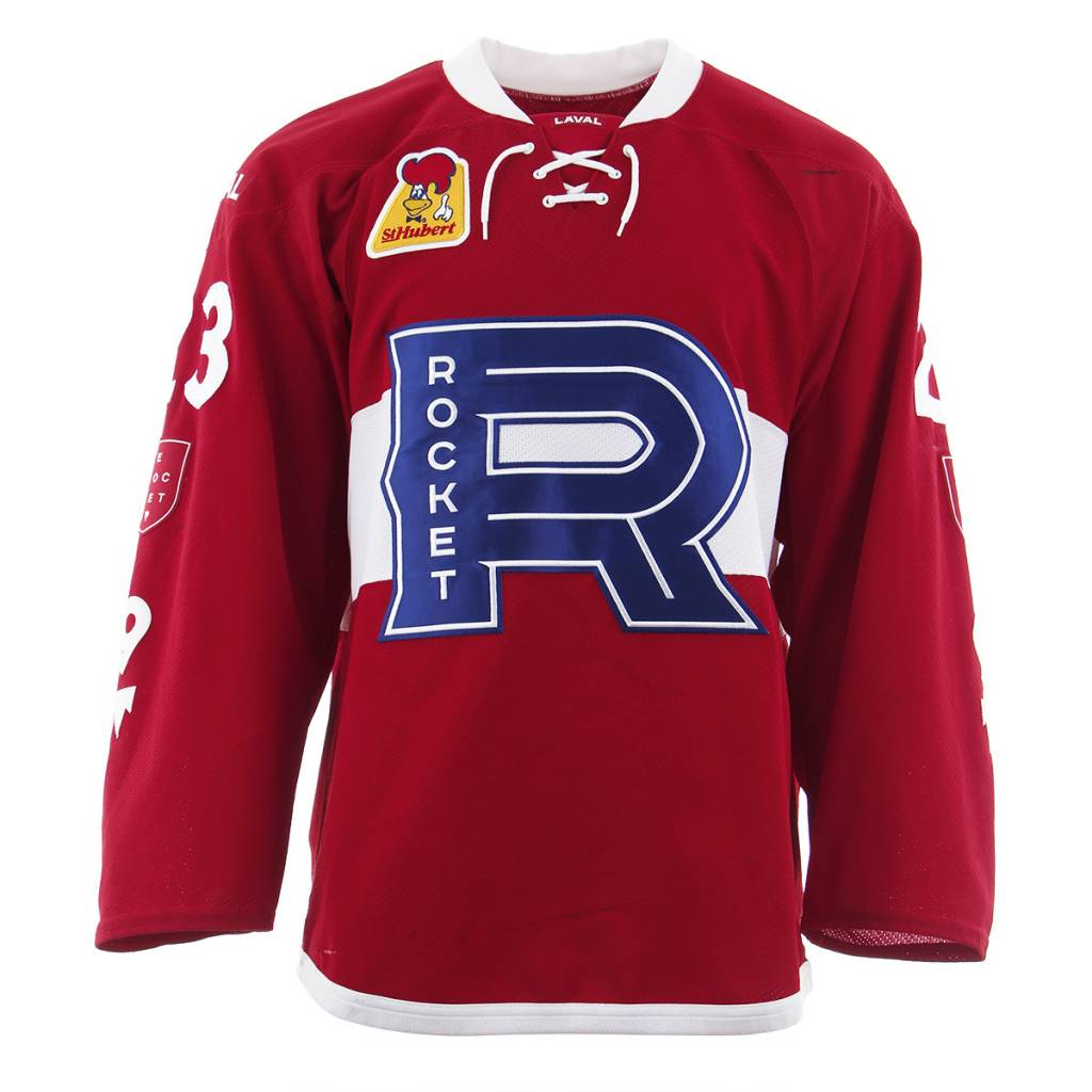 Club De Hockey 2017-2018 #23 NIKI PETTI RED GAME-USED JERSEY (SIGNED)