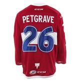 Club De Hockey 2017-2018 #26 MATT PETGRAVE RED GAME-USED JERSEY